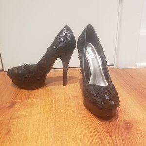 Rachel Roy Sequin Heels!!
